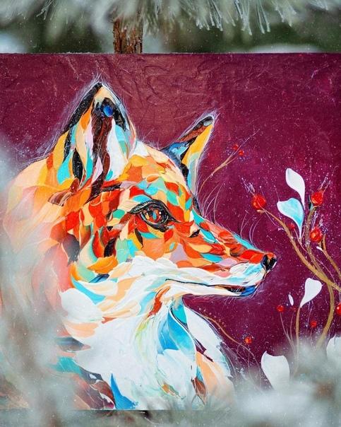 Необычные текстурированные картины Анастасия Аблогина работает в своем особенном фактурном стиле, передает яркую энергию естественного мира густыми мазками и яркими сочетаниями ярких цветов.