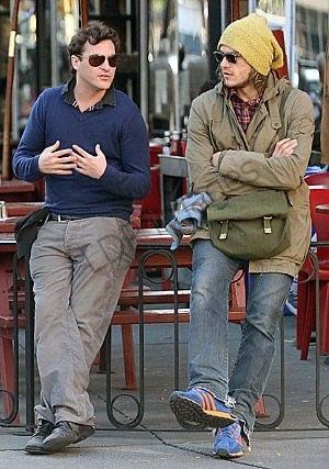 Хоакин Феникс и Хит Леджер. 2007 год.