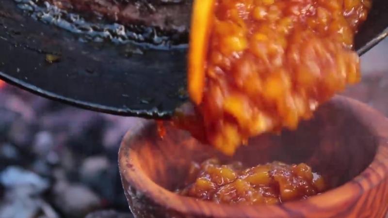 Лучший бутерброд Монте-Кристо-готовка в лесу Best Monte Cristo Sandwich - Cooking in the Forest