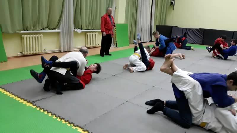 Зимние сборы очередная совместная тренировка с дзюдоистами
