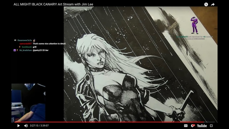 ALL MIGHT! BLACK CANARY! Art Stream with Jim Lee