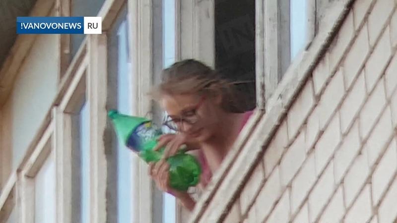 Иваново дети из окна многоэтажки обливают прохожих водой