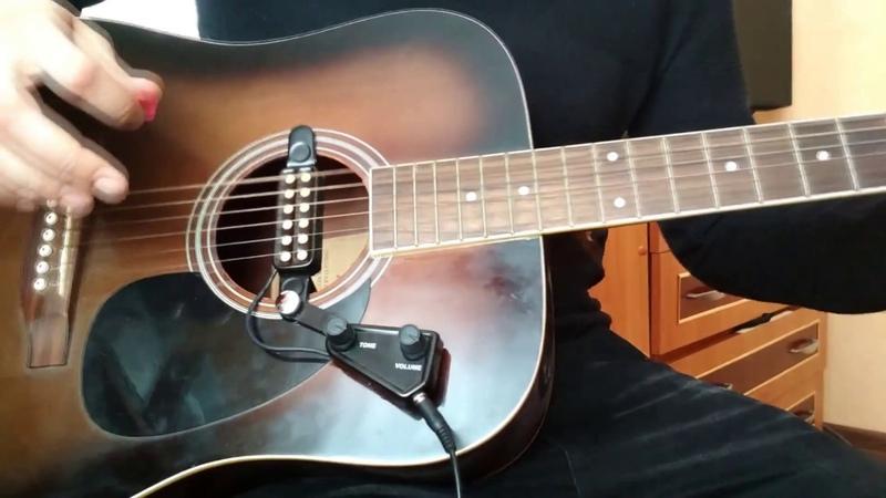 Звукосниматель для акустической гитары (установка, подключение, примеры звучания через Guitar Rig 5)