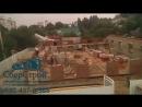 Демонтаж здания в городе и строительство нового