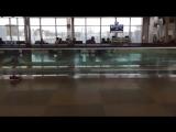 Когда в аэропорту нет бассейна а тренировки пропускать  не хочется -)