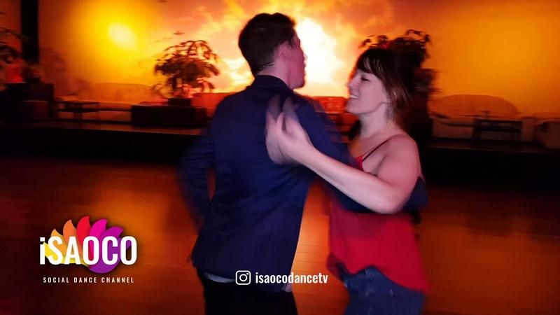 (Mobile Camera) Caren Söhrich and Benoît Lambert Salsa Dancing at Pre Party SFS 2018, Fri 23.02.2018