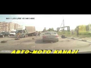 Супер Подборка жестких аварий Июня 2014 № 1