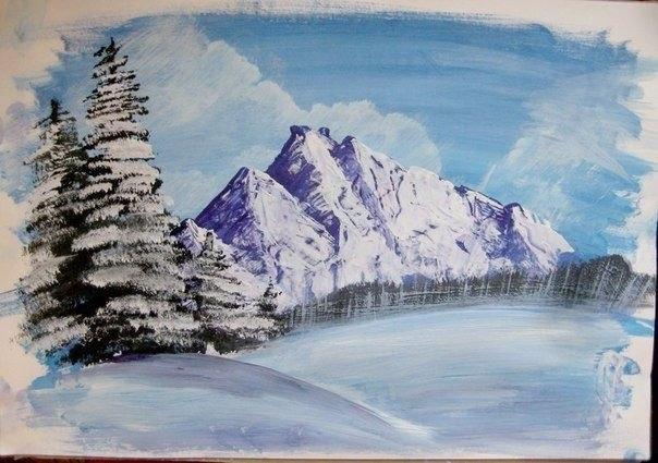 Картины зимние своими руками
