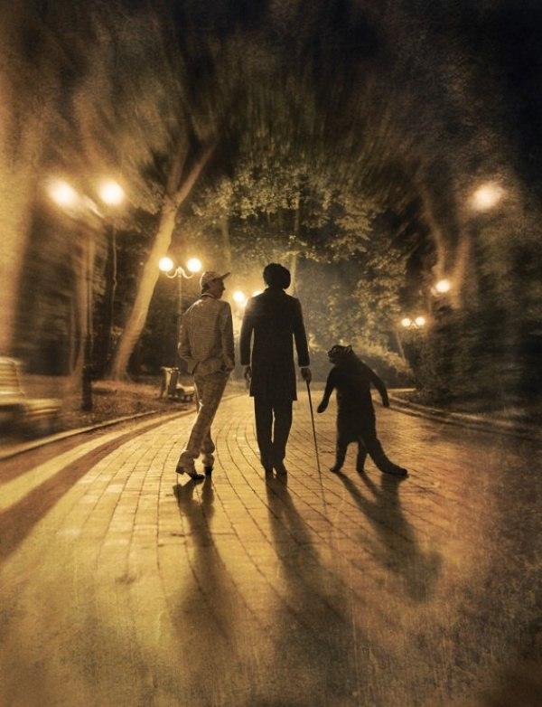 Герои культового романа Мастер и Маргарита ожили в фотопроекте.
