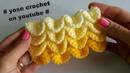 كروشية غرزة قشور السمك بأسهل طريقة - crocodile stitch crochetقن1575