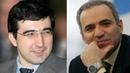 Шахматы Крамник Каспаров ЖЕРТВА ФЕРЗЯ в партии двух королей