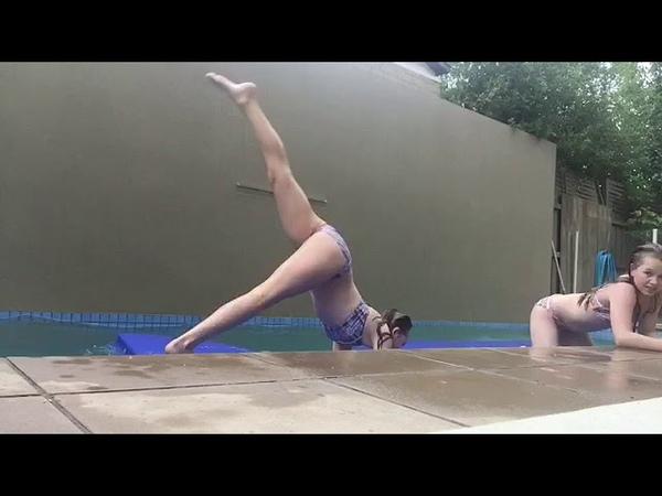 ABC gymnastics challenge with Liv: Water Edition💗