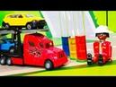 Мультики про машинки. Петрович и грузовик попал в аварию - Цветные опыты для детей. Мультфильмы