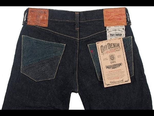 Oni Denim x Burgus Plus ONI-850 15.5oz Natural Indigo - одни из самых необычных джинсов