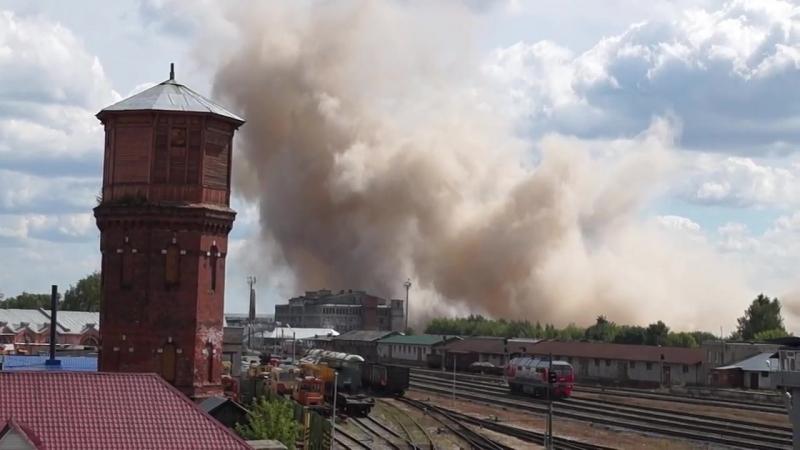 5 августа 2018 год. Иваново. Снос здания мукомольного завода.