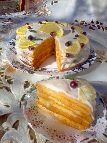 """Торт """"медовый без раскатки коржей"""" (лайт) Кефир 0,5"""