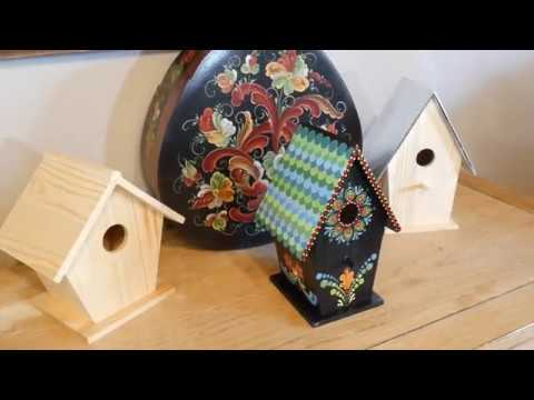 How to paint dot mandalas with Kristin Uhrig 58 Nordic Bird House