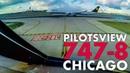 Pilotsview BOEING 747-8 at Chicago OHare