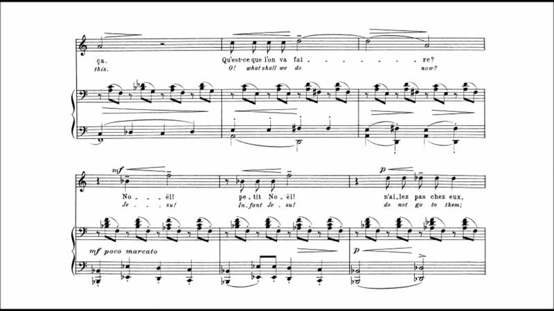 Claude Debussy - Noël des enfants qui n'ont plus de maison (audio sheet music)
