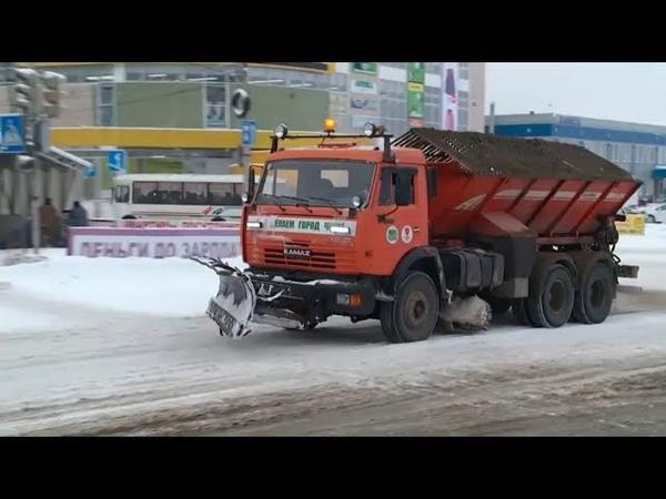 Из за обильных осадков на бийских дорогах образовалась снежная каша Бийское телевидение