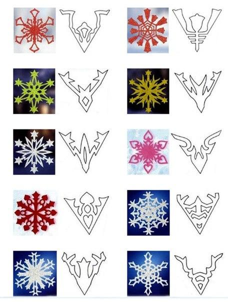 Схемы снежинок и мастер-класс: