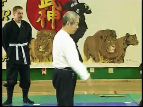 Masaaki Hatsumi using the Kukan in Tanto Jutsu Muto Dori