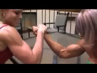 Strong Female Bodybuilder Hot Muscle Women Shape Lifting fbb Arm wrestling