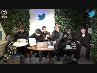 [Видео] 181204 GOT7 @ Twitter Blue Room LIVE Q&A