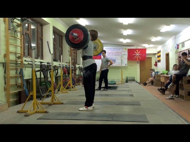 2017.12.05 - Тяжелая атлетика, толчок со стоек 130кг.