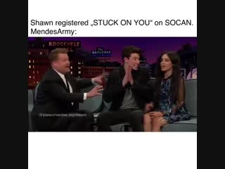 me, when Shawn registered
