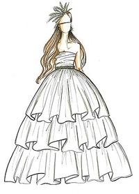Дизайн платьев в картинках