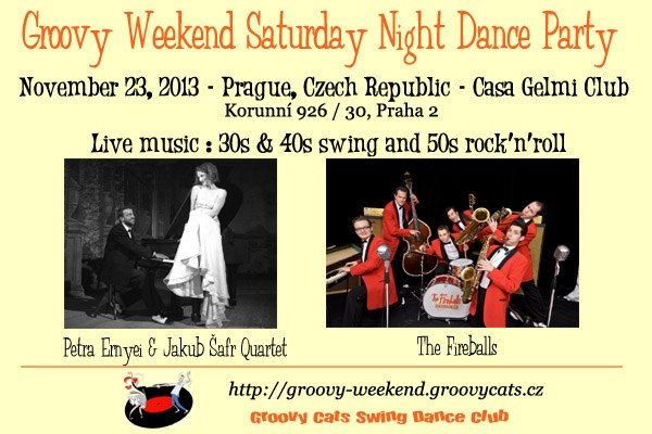 23.11 Groovy Weekend Saturday Night Dance Party