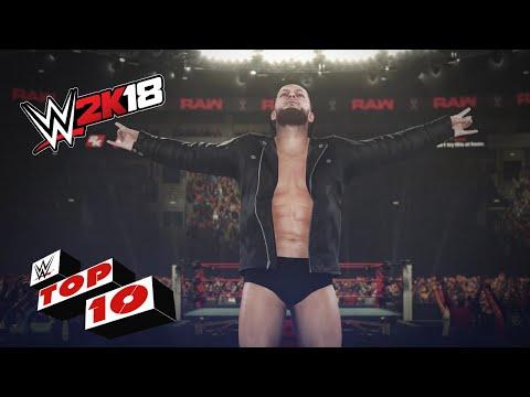 Top 10 Ludicrous Ladder Attacks: WWE 2K18 Top 10