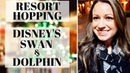 Walt Disney World Resort Hopping at the Swan Dolphin at Christmas! Dole Whip Resorts by Epcot