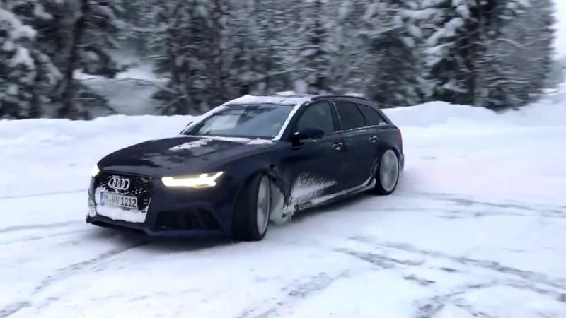 Audi RS6 C7 750 л.с атакует снег!