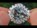 GIA Certified Near FLAWLESS VVS1 Natural Fancy Green Tanzanite Diamond 18k White Gold Ring - A141041