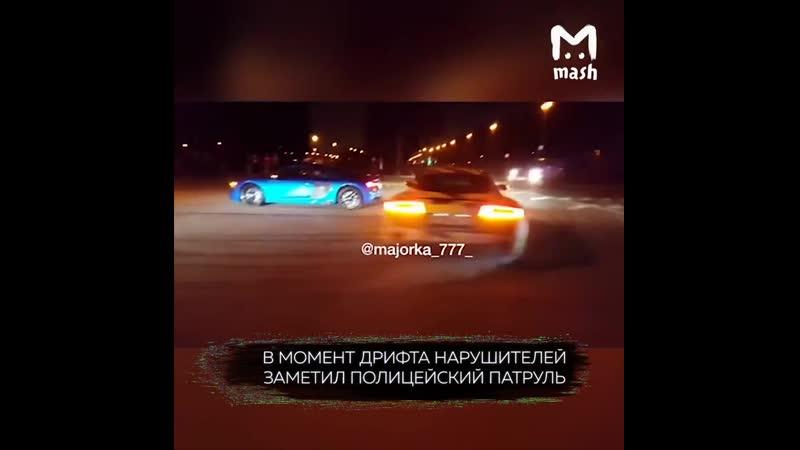 Audi R8 (Ауди Р8) дрифт на Воробьевых горах Москва.720.mp4