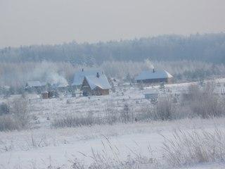 Зима в поселении Ладное Владимирской области