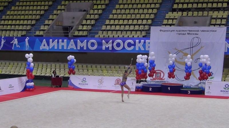 Полина Хонина булавы многоборье Кубок Москвы 2018