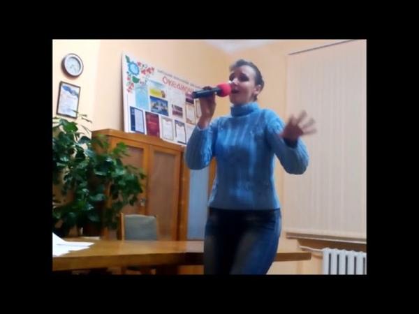 Співає солістка Народного вокального ансамблю Океаночка, Альона Шаховська, Миколаївського Палацу кул