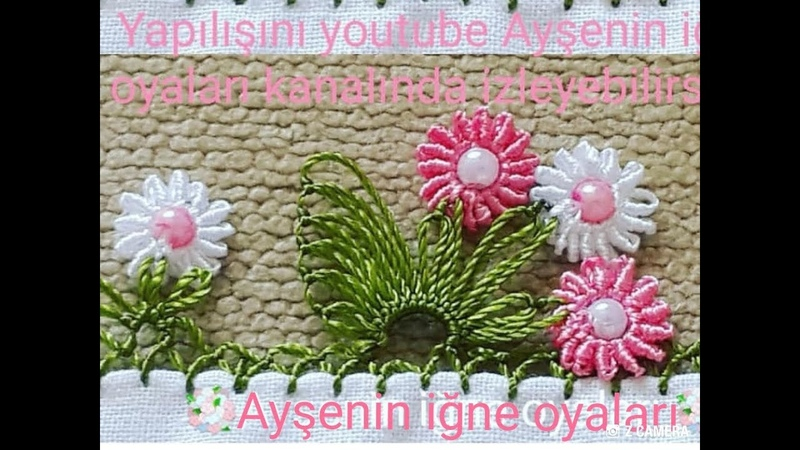 Flower Muhteşem bir tasarım igne oyası modeli anlatımlı video do not forget to like