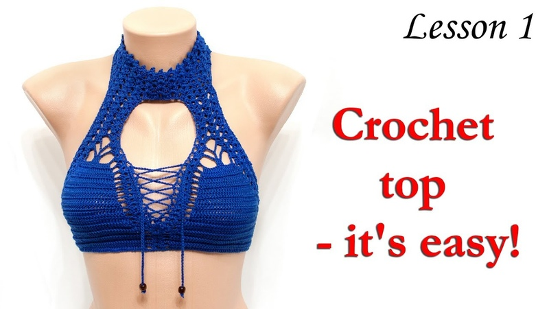 КРОП Топ - крючком - Урок 1 - основа / Crop Top crochet for beginners - Lesson 1