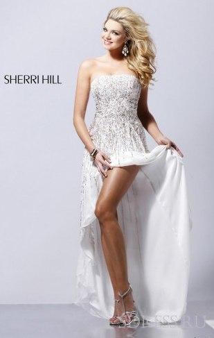 Платье спереди короткое сзади длинное 51