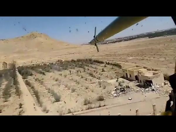 Свободную охоту российских боевых вертолетов в Сирии сняли на видео