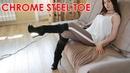 Platform high heels Gianmarco Lorenzi boots Suede Chrome metal toe EU 37 5 US 7 5