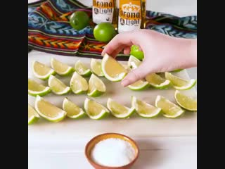 Corona lime jell-o shots