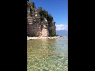Italia, Lombardia, Brescia, Sirmione, Lago di Garda, Spiaggia Jamaica