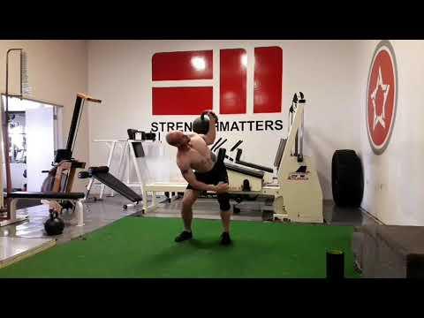 Bent press rev getup both sides 68kg