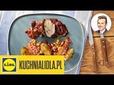 Roladki z mięsa mielonego z szynką, serem feta i szpinakiem - Karol Okrasa - przepisy Kuchni Lidla