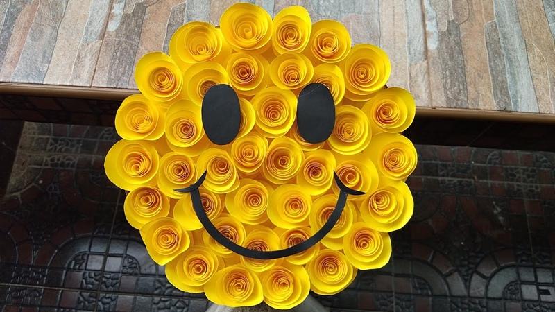 จัดช่อดอกไม้กระดาษ สไมลีย์ smiley แบบง่ายๆ l แ 36